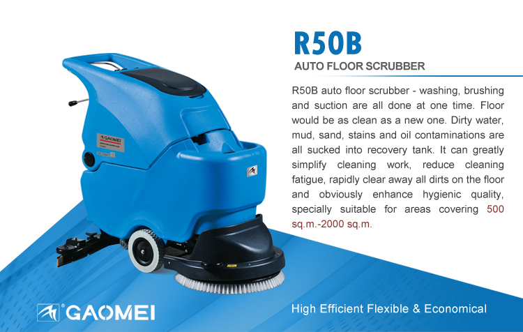 how to use walk behind floor scrubber