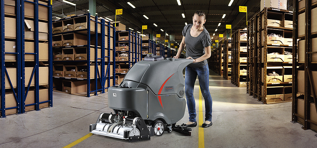 GM-65RBT floor scrubber-sweeper machine